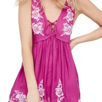 Free People Aida Embroidered Slipdress | Nordstrom