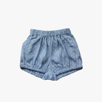 Vierra Rose Carrie Bubble Shorts in Star Chambray - FINAL SALE