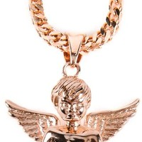 The Gold Gods Micro Angel Rose Gold Necklace