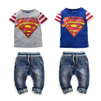 Kids Boys Girls Baby Clothing Products For Children super hero= 4446001796
