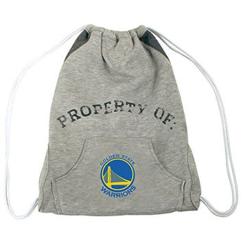 NBA Golden State Warriors Hoodie Cinch Backpack, 14 x 17-Inch, Gray