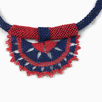 Crochet Otantic Choker Necklace, Needle Lace Jewelry ,Turkish Oya Necklace ,Fiber jewelry,Textile Jewelry, Gift For Her