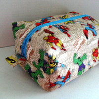 Large Marvel Boxy Make Up / Toiletry Bag / Zipper Pouch