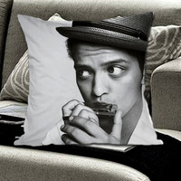Bruno Mars on Pillow cover by FamilyGrayDesign