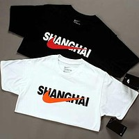 NIKE City Limited Summer Fashion Men and Women Couples Round Neck Short Sleeve T-Shirt F-AG-CLWM