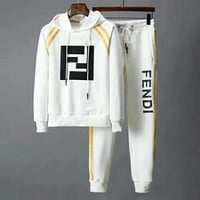 FENDI 2018 winter new casual wear men's sportswear two-piece white