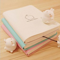 VONC1Y 2017-2018 Cute Kawaii Notebook Cartoon Molang Rabbit Journal  Diary Planner Notepad for Kids Gift Korean Stationery Three Covers