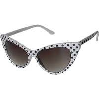 Polka Dot Cat Eye Womens Mod Fashion Super Cat Sunglasses