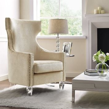 Gramercy Gold Croc Velvet Wing Chair | Overstock.com Shopping - The Best Deals on Living Room Chairs