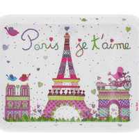 Disney Parks Epcot France Paris Je T ' Aime Tower Eiffel Tray New