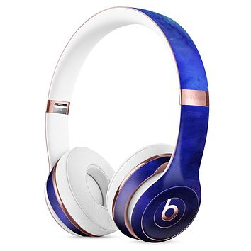 Dark Blue Absorbed Watercolor Texture Full-Body Skin Kit for the Beats by Dre Solo 3 Wireless Headphones