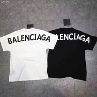 """balenciaga"" Women Hot letters print T-shirt top"