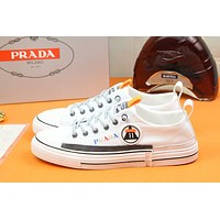 prada men fashion boots fashionable casual leather breathable sneakers running shoes 93