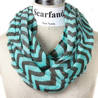 Scarfand's Light Weight Chevron Infinity Scarf (Chevron Pink)