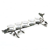 Perched Birds Tealight Candle Holder