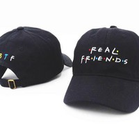 cc hcxx Real Friends Embroidered Dad Cap