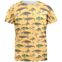 Fishing Lures All Over Adult T-Shirt