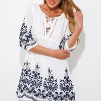 Burn In Smoke Dress White