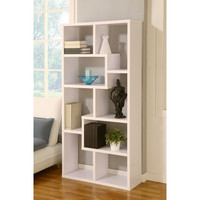 Hokku Designs Masima Unique Bookcase / Display Cabinet in White