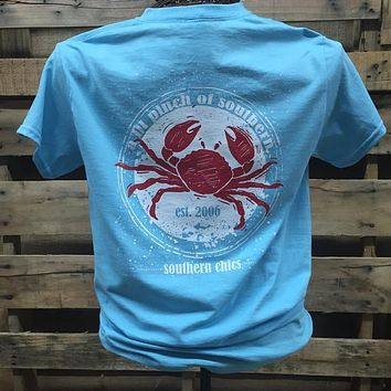 Southern Chics Apparel Lil Pinch of Southern Crab Girlie Bright T Shirt
