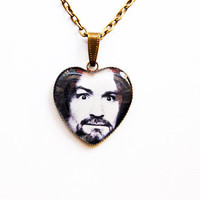 Charles Manson - Handmade Vintage Cameo Pendant Necklace