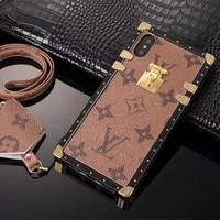 Louis Vuitton LV Mobile Phone Shell iPhone Phone Cover Case For iphone X iphone 8 8plus iPhone6 6s 6plus 6s-plus iPhone 7 7plus