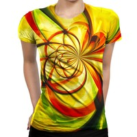 Yellow Flower Womens T-Shirt