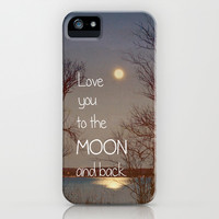 To the Moon and Back iPhone & iPod Case by Olivia Joy StClaire