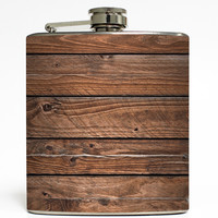 Dismantled Barn - Faux Wood Flask