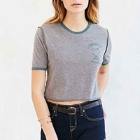Corner Shop Great Lakes Cropped Tee- Dark Grey