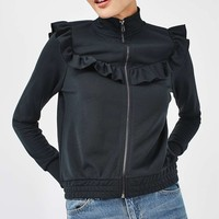 Frill Zip Through Jacket