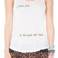 Brandy ♥ Melville |  I Love You To The Moon And Back - Clothing