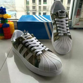 """Adidas"" Fashion Casual Multicolor Camouflage Unisex Sneakers Shell Head Plate Shoes Couple Running Shoes"