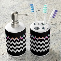 Black Magic - Toothbrush Holder & Soap Set