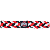 Ohio State Buckeyes NCAA Braided Head Band 6 Braid