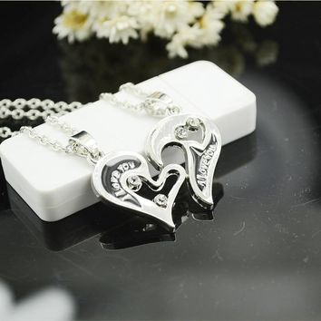 Gift New Arrival Jewelry Stylish Shiny Hot Sale Innovative Gifts I Love You Heart Pendant Necklace [8804752199]