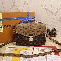 Tagre™ LV Louis Vuitton Women Shopping Leather Satchel Shoulder Bag Handbag Crossbody