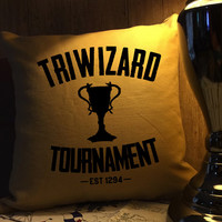 Triwizard tournament harry potter throw pillow cover