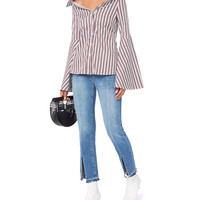 Striped Persephone Blouse