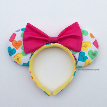 Sweetheart Mouse Ears with Pink Bow - Valentine's Day