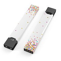 Ascending Multicolor Micro Dots - Premium Decal Protective Skin-Wrap Sticker compatible with the Juul Labs vaping device