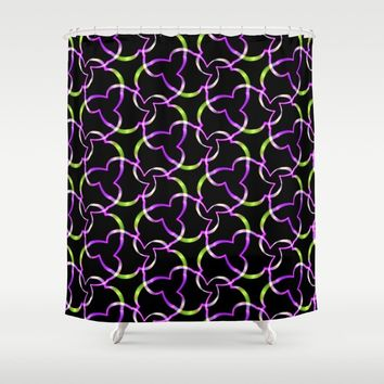 Neon Abstract Pattern Shower Curtain by kasseggs