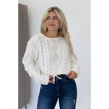 New Fascination Cropped Sweater - Ivory