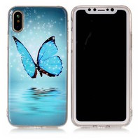 Luminous Case for fundas iPhone X Case Silicone Cover for fundas iPhone 10 Case