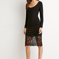 Lace-Paneled Bodycon Dress