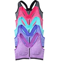 Encounter Womens 5 or 6 Packs Wirefree Yoga Sport Bra Multicolor M