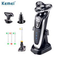 kemei5181 4 in 1 Washable Rechargeable Electric Shaver Triple Blade Electric Shaving Razors  Face Care 3D Floating Free Shipping
