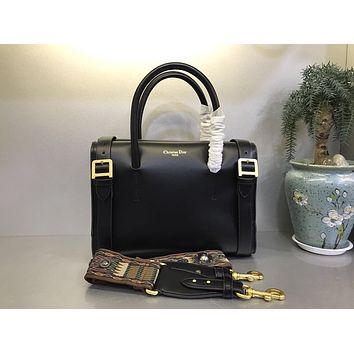 DIOR LADY RIVET LEATHER HANDBAG SHOULDER BAG