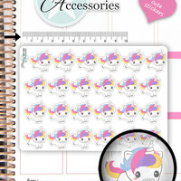 Kawaii Unicorn Stickers Unicorn Planner Stickers Planner Stickers Kawaii Stickers Erin Condren Decorative Stickers Live Planner NR1386