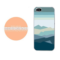 Mountains and Sky Cartoon iPhone 4/4s 5/5s/5c/6/6 plus iPod 4/5 & Galaxy S5 Case